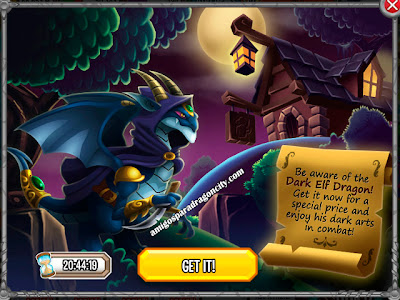 imagen del dark elf dragon de dragon city