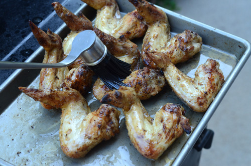 grilled chicken wings, roadside chicken wings, marinated chicken wings