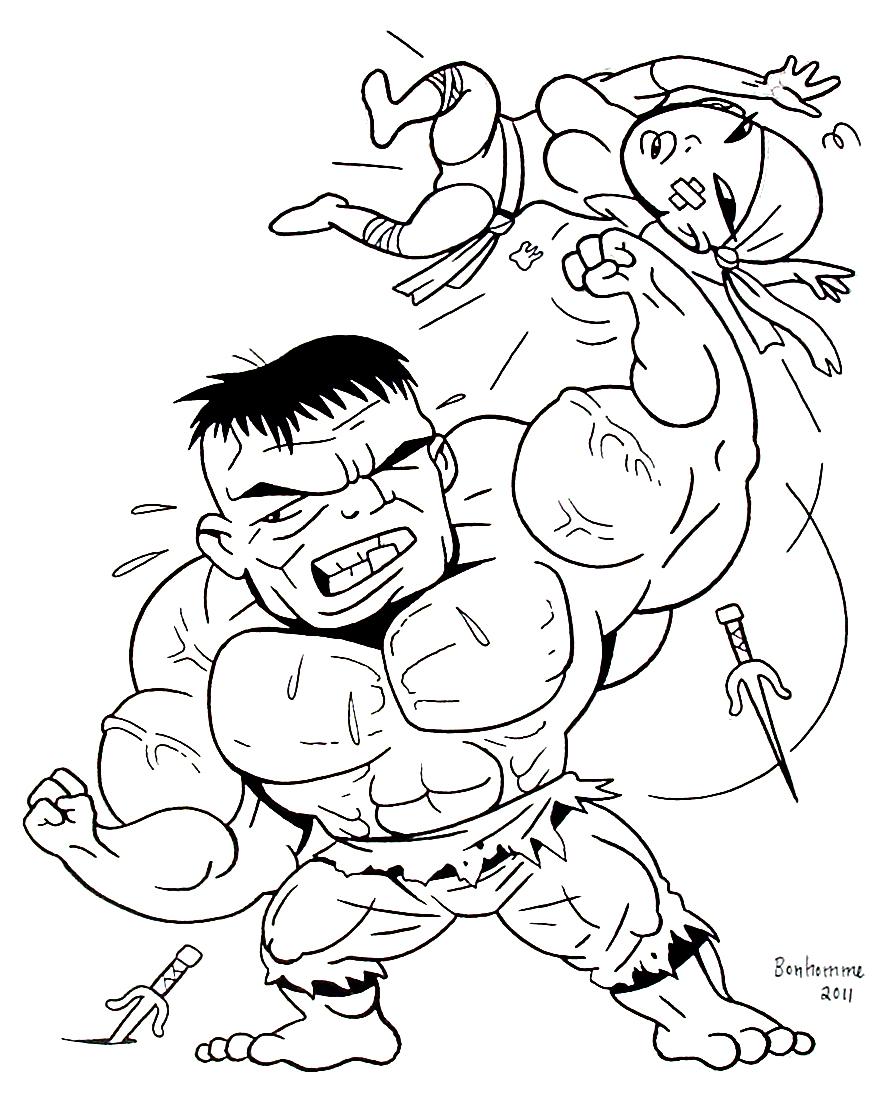 Les sketcheurs cosmiques hulk vs elektra version m o s - Dessin de mini ...