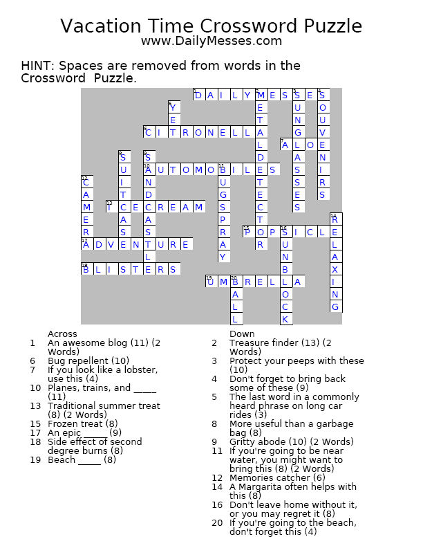 Daily celebrity crossword answers october 28