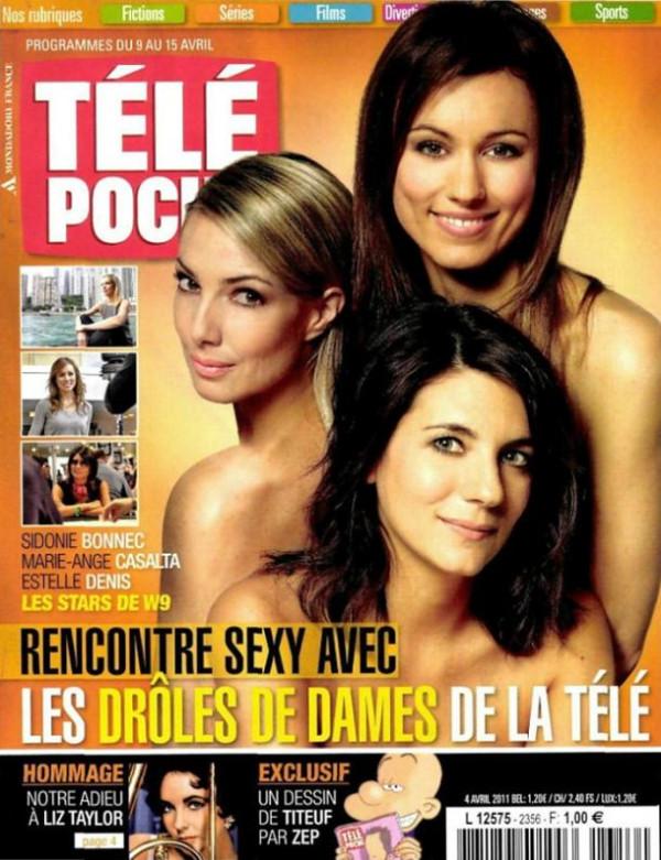 Estelle Denis, Marie-Ange Casalta et Sidonie Bonnec topless Télé Poche