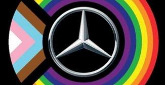 Și Mercedes-Benz USA și-a schimbat logo-ul în semn de suport pentru homosexuali și LGBTQ+