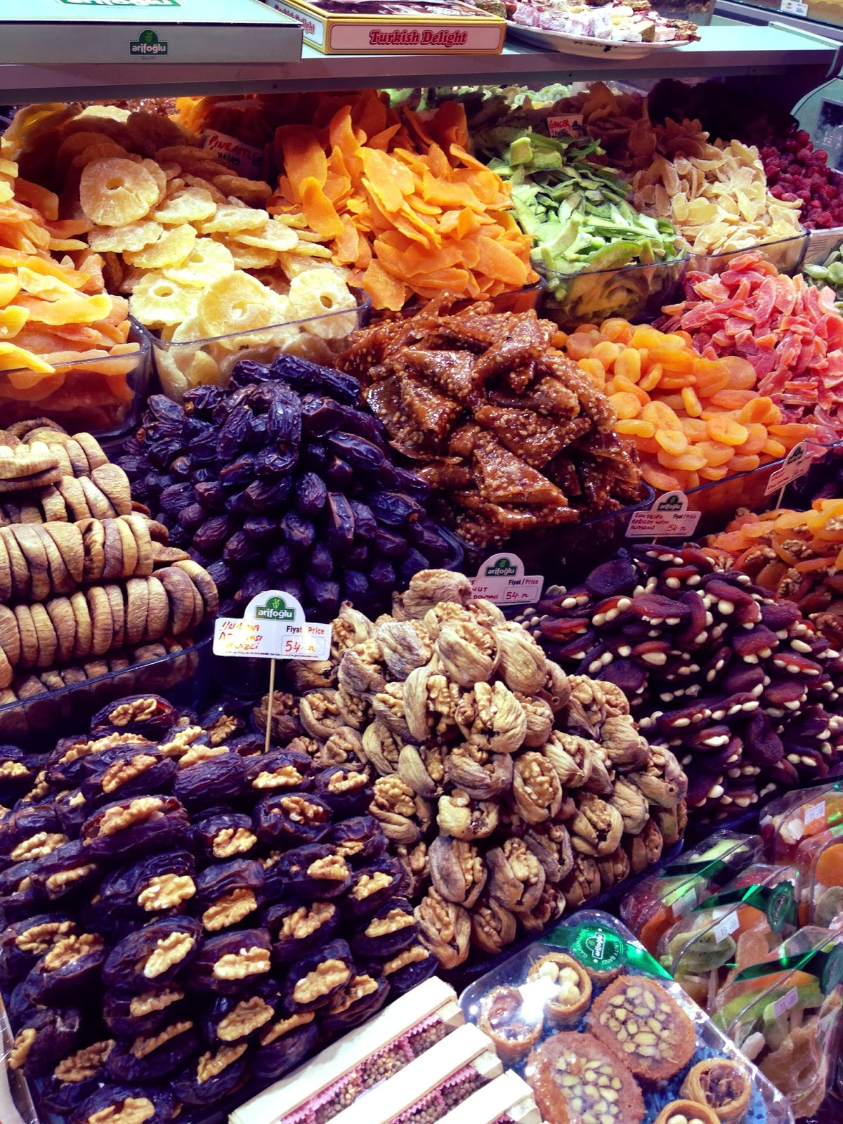 Istanbul - Dried fruit and nuts at the Spice Bazaar