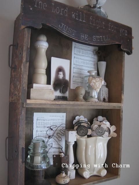 Old drawer shelves, by Chipping with Charm, featured on I Love That Junk