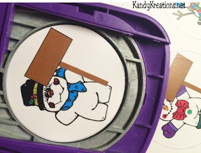 Use a 3 inch punch to make snowmen