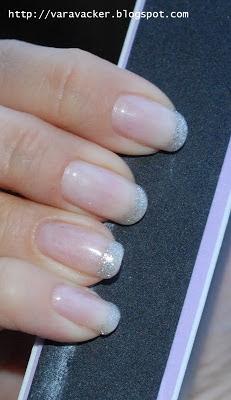 naglar, nails, nagellack, gel polish, depend gellack, glitter,