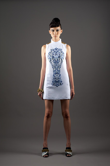 White Pauling Ning dress from the IEX Asian Heritage project in Singapore