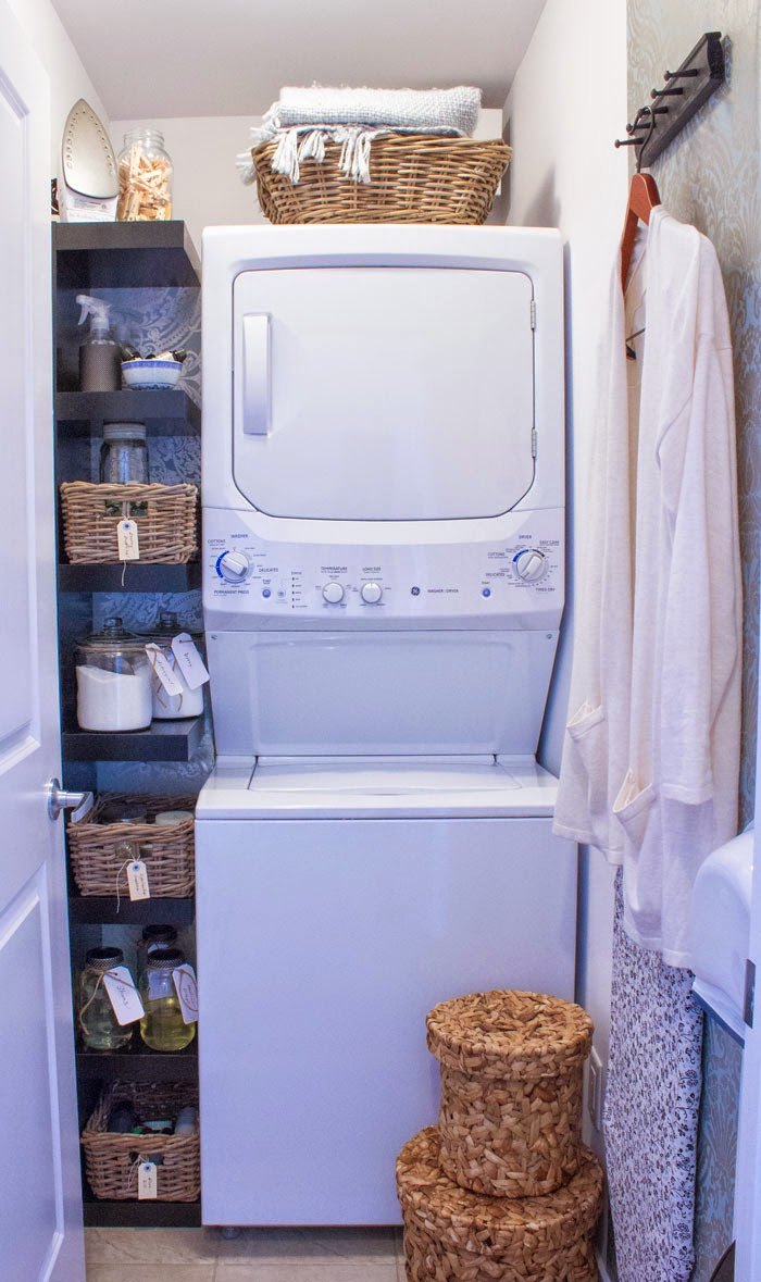 small laundry closet organzation' pretty laundry closet