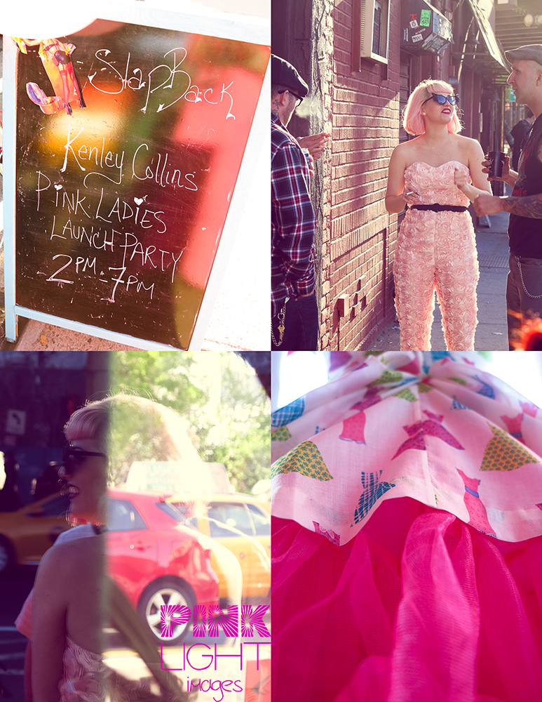 Kenley Collins from Project Runway rocking new designs for her Pink Lady line and cute dresses
