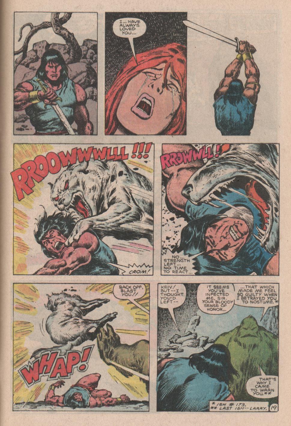 Conan the Barbarian (1970) Issue #178 #190 - English 20