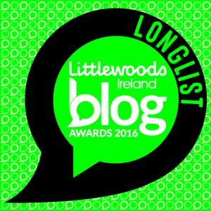 Irish Blog Awards Longlist Member!