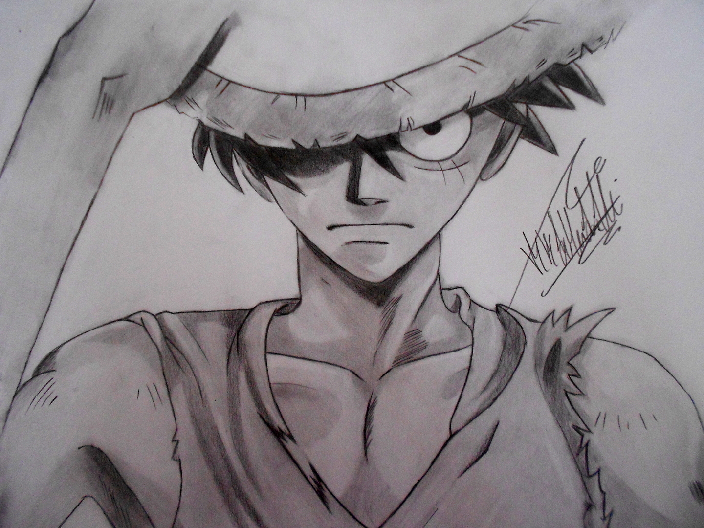 Dibujando anime dibujando a monkey d luffy onepiece for One piece dibujos