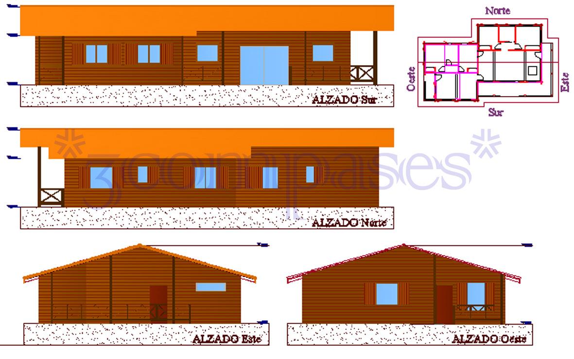 3compases proyecto de una casa de madera - Proyectos para construir una casa ...