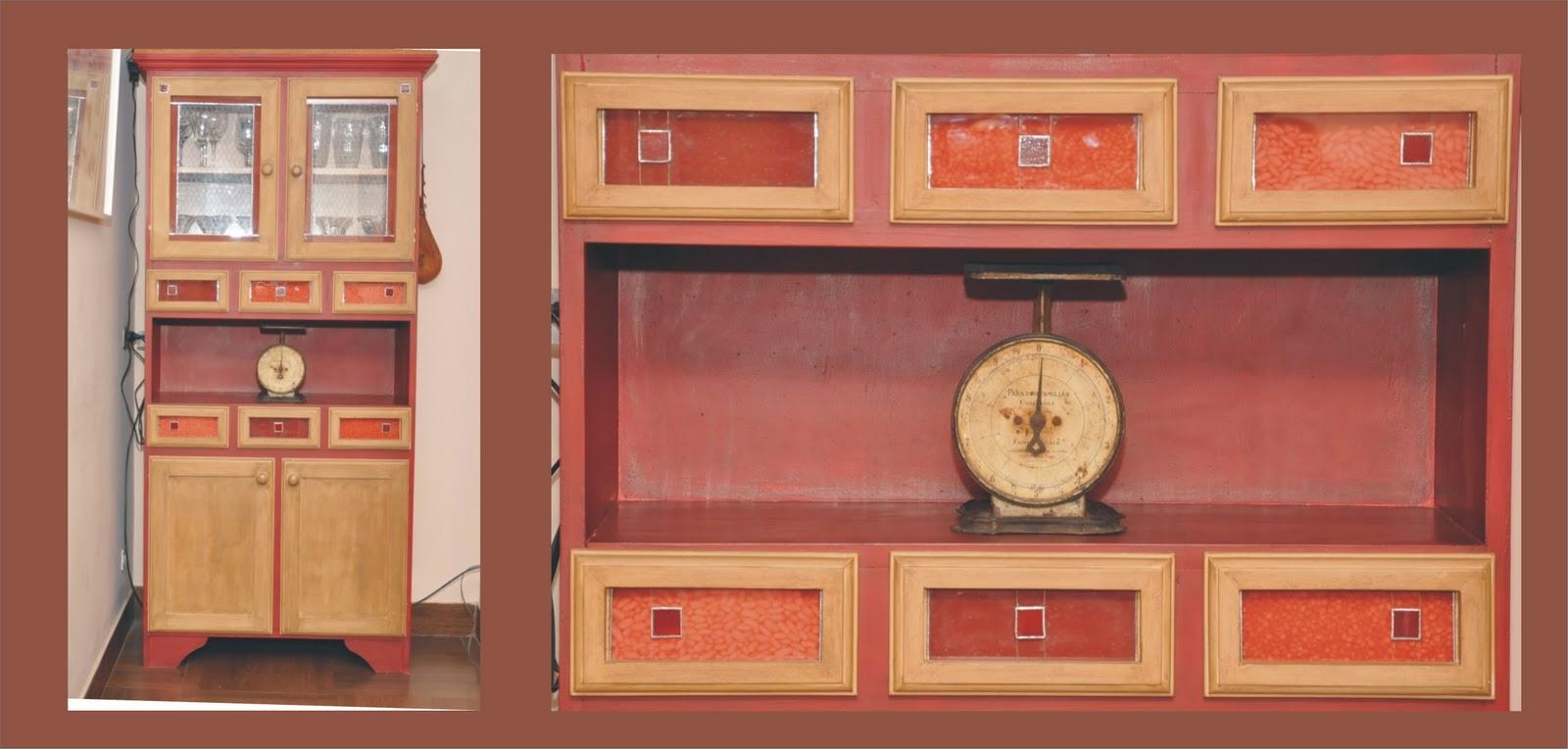 Mueble de pino crudo pintado con esmalte sintético Aplicaciones de