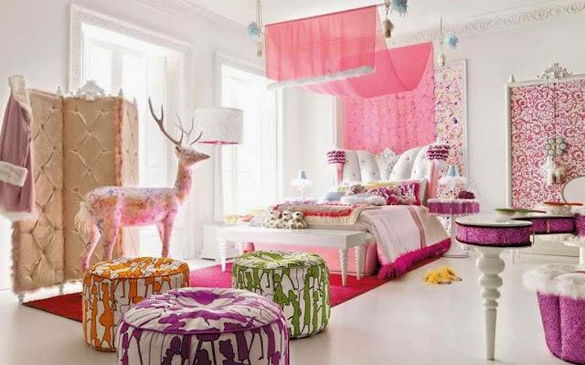 Foto kamar tidur anak perempuan mewah