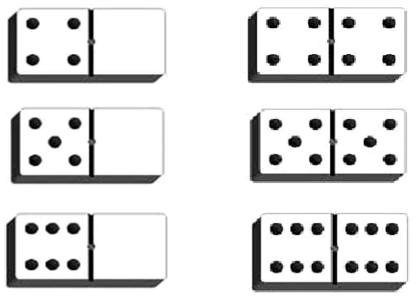 Cole r f rences du simple au double visualiser et - Coloriage domino ...