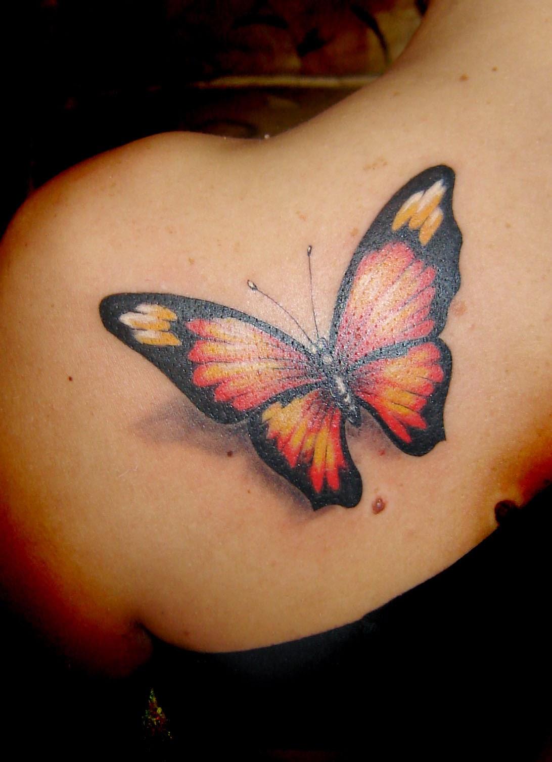 3d butterfly tattoo designs