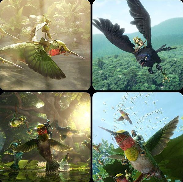 Разнообразные полеты из мультфильма Эпик