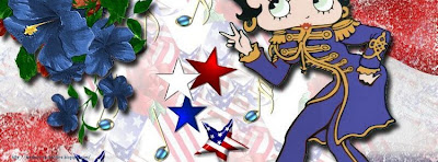 Couverture facebook betty boop pour Noel