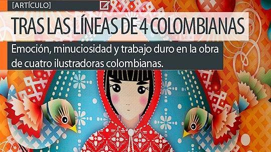 Tras las líneas de cuatro ilustradoras colombianas