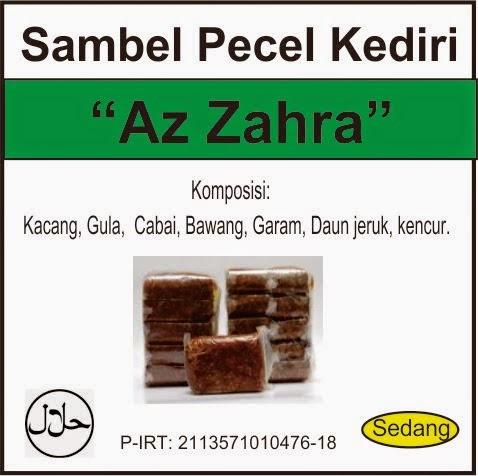 """Sambel Pecel Kediri """"Az Zahra"""""""