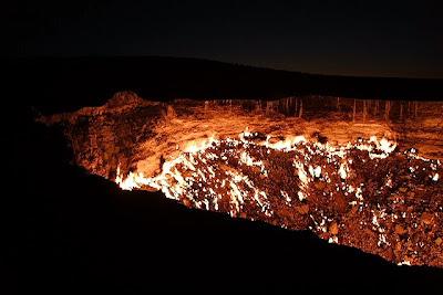 Darvaza газ кратер, Туркменистан