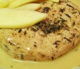 Peito de frango ao molho de maçã light