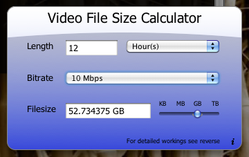 Openstripe Macos X Widgets Video File Size Calculator