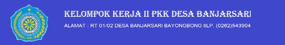 POKJA II PKK DESA BANJARSARI