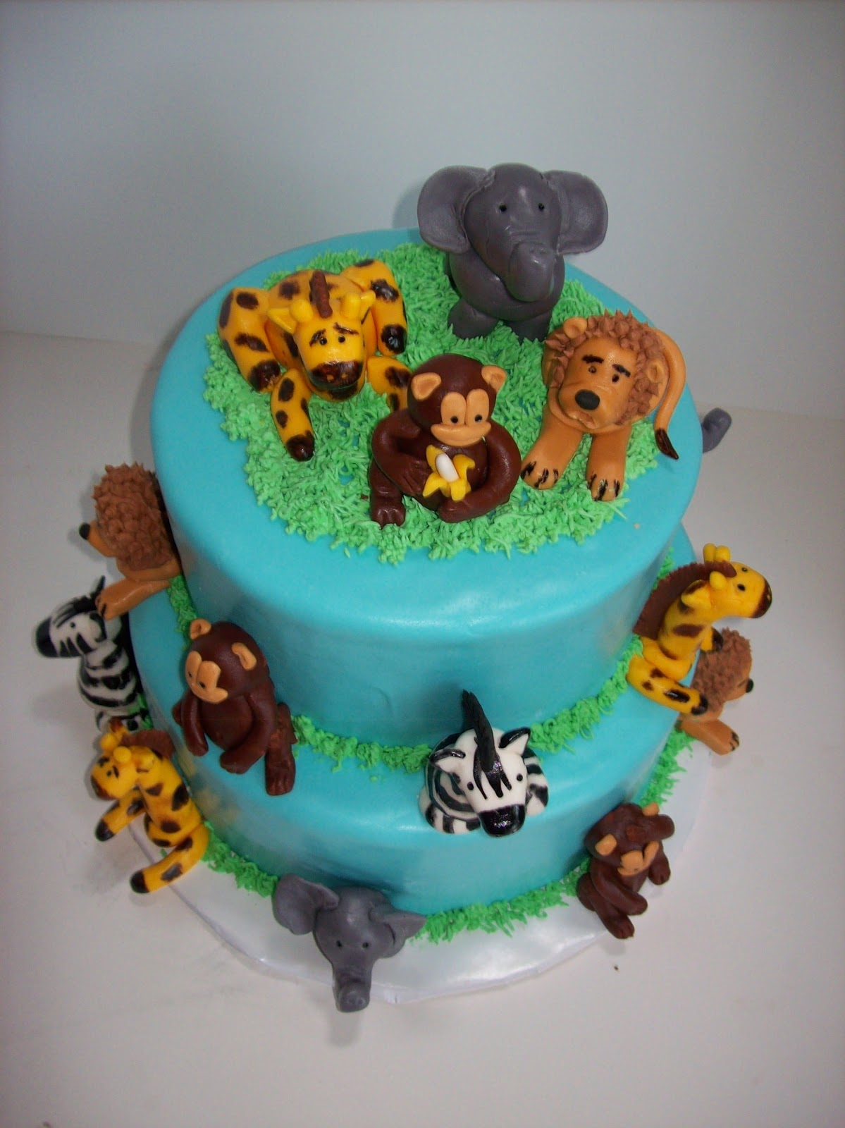 Jungle Animal St Birthday Cake