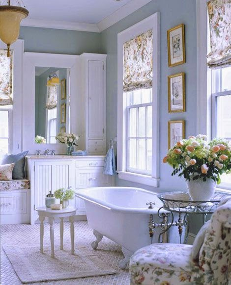 beautiful traditional blue master bathroom claw foot tub