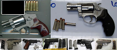 Loaded Guns Discovered at Checkpoints