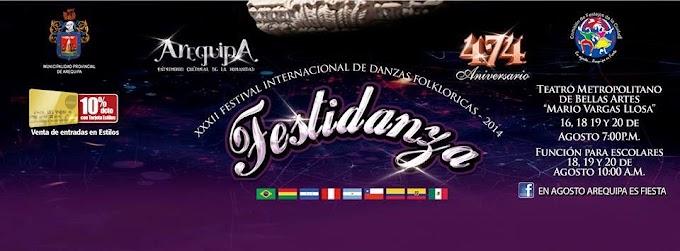 XXXII Festival Internacional de Danzas Folkloricas - Festidanza 2014 - 16, 18, 19 y 20 de agosto