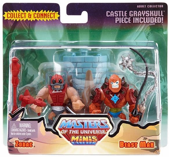 Masters of the Universe Minis 2 Pack #5 by Mattel - Zodac & Beast Man