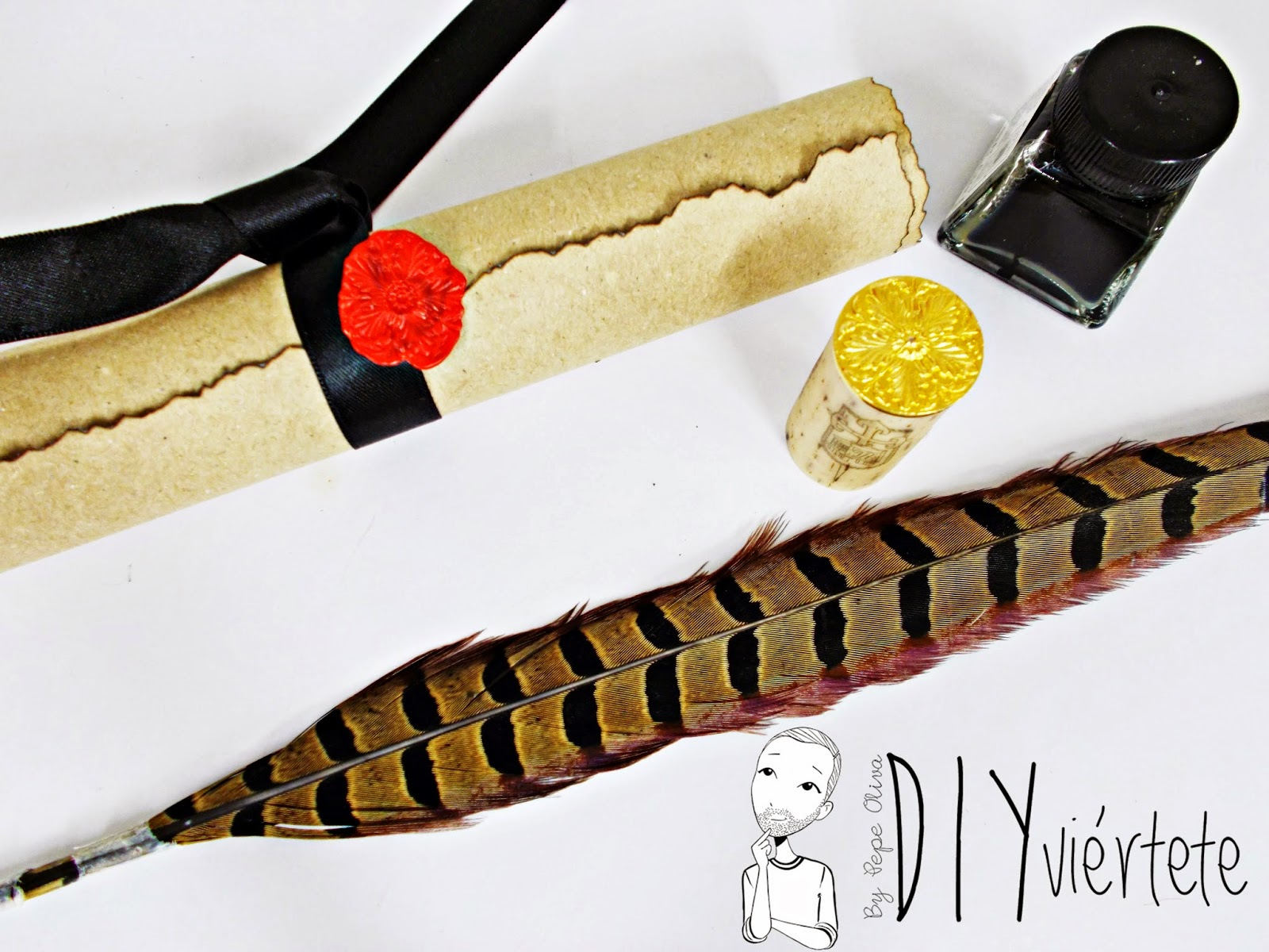 DIY-manualidades-sello-lacre-pergamino-DIYviértete
