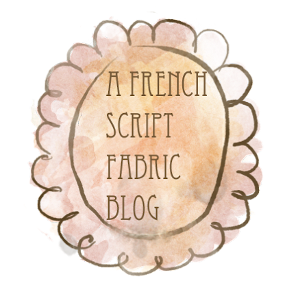 French Script Fabric