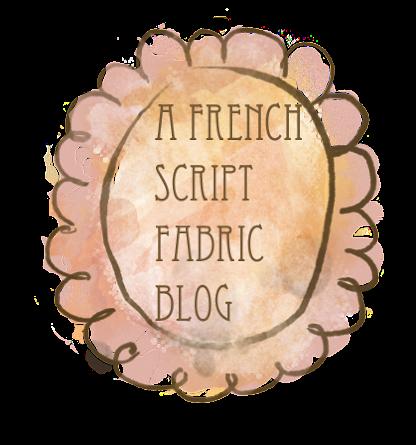 French Script Fabric