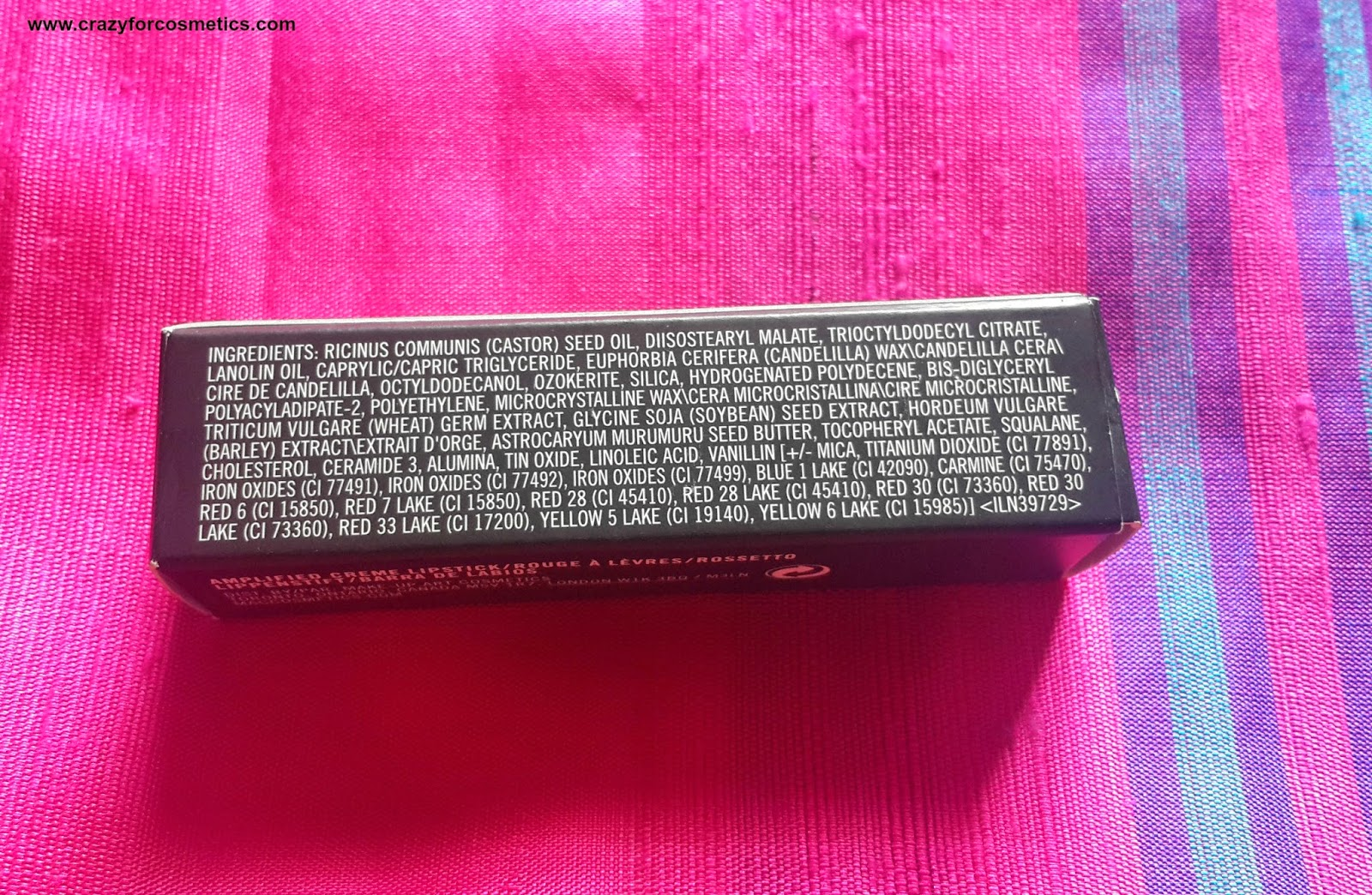 mac impassioned lipstick ingredients
