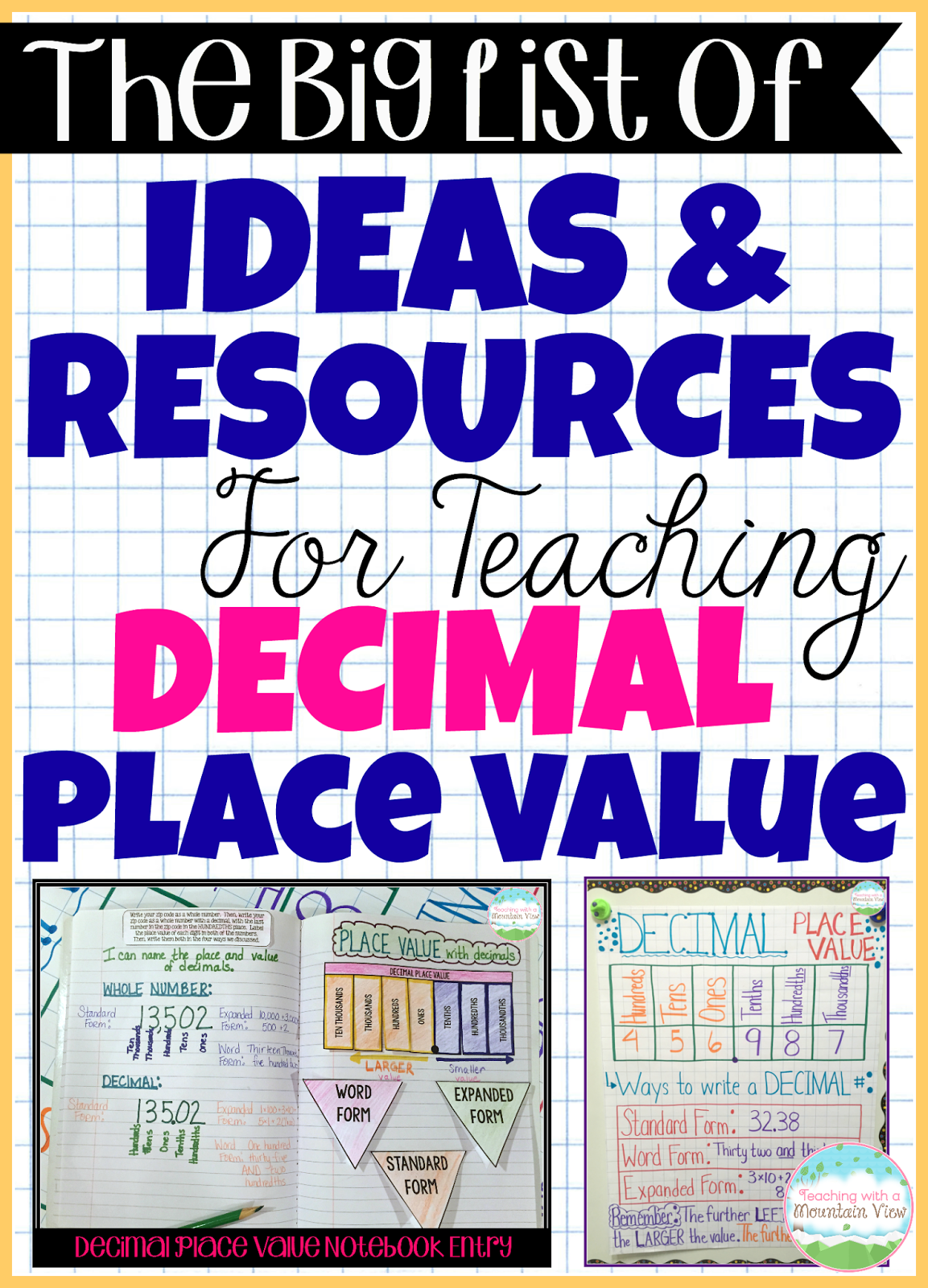 Teaching with a mountain view decimal place value resources here is our introducing decimal place value anchor chart its nearly identical to our place value chart which in some ways helps the kids see that its pronofoot35fo Gallery