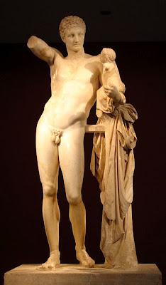 Escultura Hermes com Dionísio menino