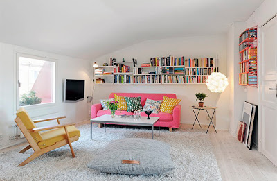 Un attico colorato in Svezia!
