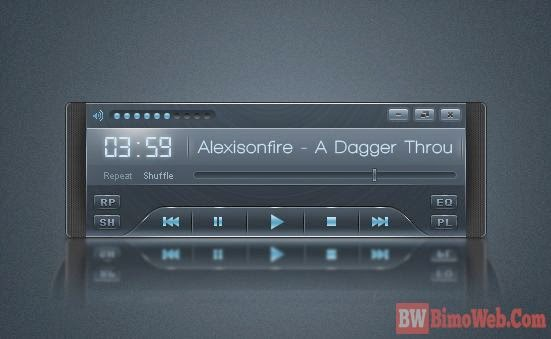Creating Sleek Audio Player in Photoshop Tutorial