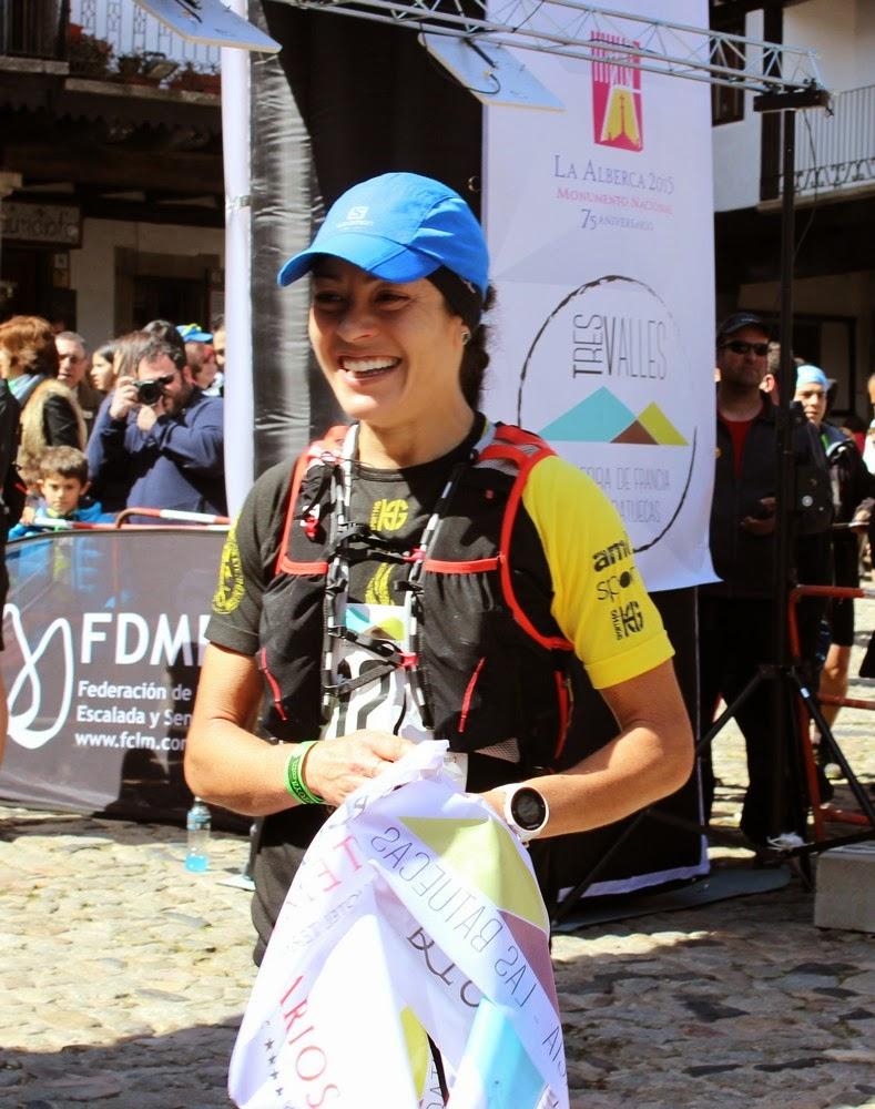 Gaby Sánchez, ganadora de la primera edición de Tres Valles. /TRAILCYL