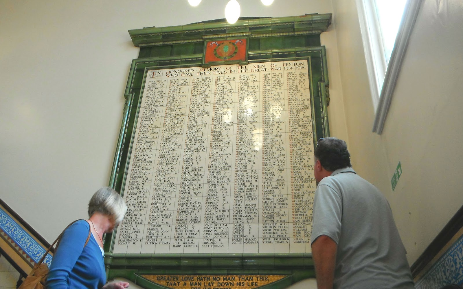 War Memorial inside the old Fenton Town Hall