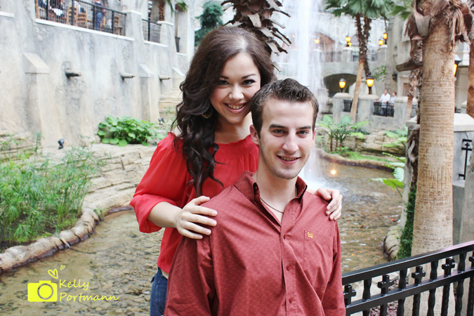 Engagement photos, Gaylord Texan Resort