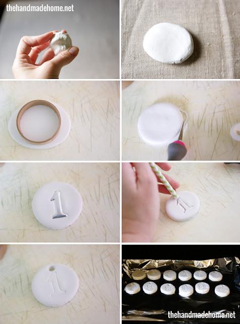 cyfry z modeliny DIY - tutorial Eco Manufaktura
