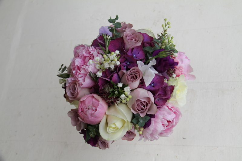 Deep Purple Mauve Amp Pink Bridal Bouquet