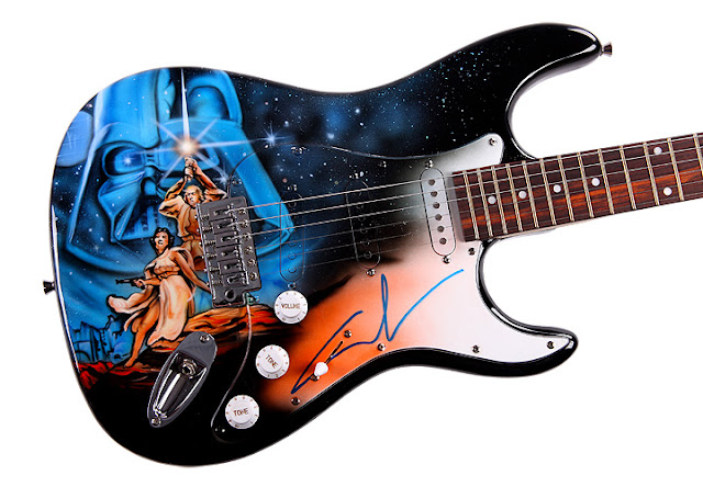 Star Wars Themed Guitar Seen On www.coolpicturegallery.us