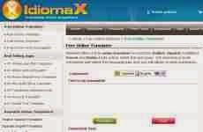 IdiomaX: traductor online de inglés, español, francés e italiano