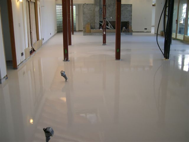 Art of white concrete modern design by for Perfect concrete floors